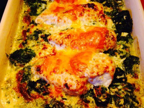 Kylling gratineret med parmesanost