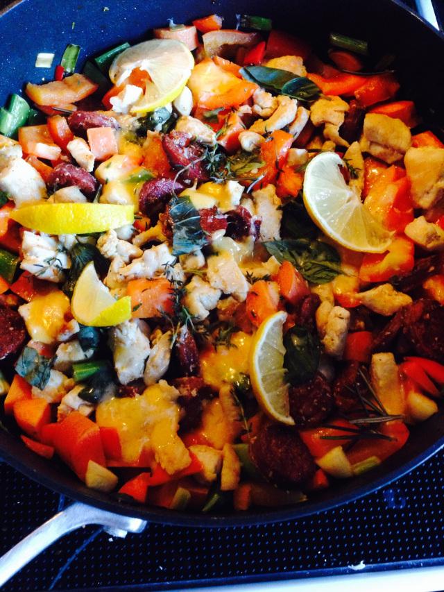 Risotto med kylling og grønsager